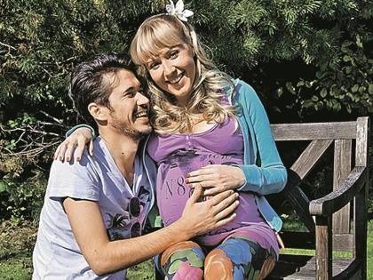Киношному мужу Эдику Маша родила дочку, реальному мужу – сына