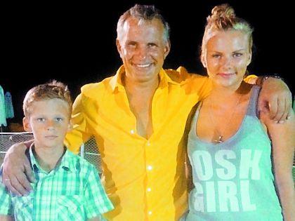 Актер с сыном Дарием и дочкой Лионой
