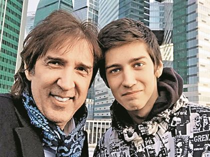 Кай Метов с сыном Риком
