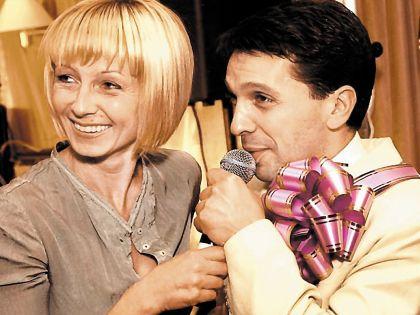 Леонид Барац со своей бывшей супругой Анной Касаткиной
