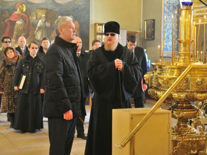 Отец Тихон и Сергей Собянин