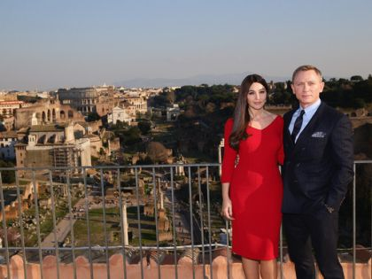 Дэниел Крэйг и Моника Беллуччи на презентации картины в Риме