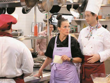На съемках сериала «Кухня»