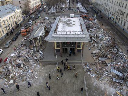 Снос ларьков в Москве
