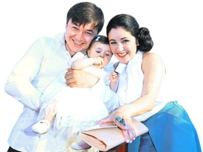 9-месячная Любава – дочь Ласло Долински и Любови Тихомировой – вызвала на фестивале фурор