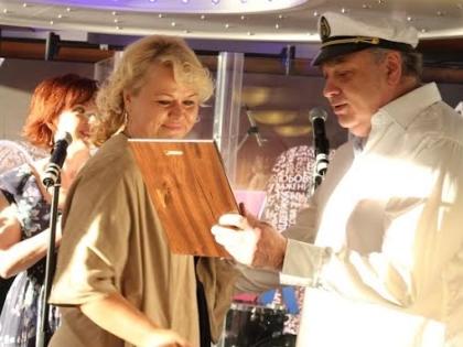 Генеральный директор «Радио Шансон» Андрей Неклюдов и программный директор радиостанции Катя Михайлова