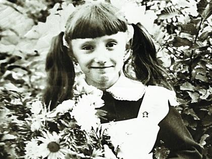 Елена Воробей в детстве