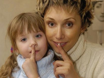 Елена Воробей с дочерью Соней