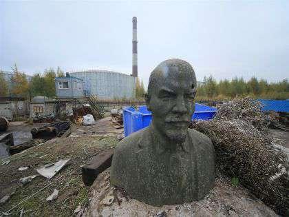 Снесенный в Днепропетровской области памятник Ленину