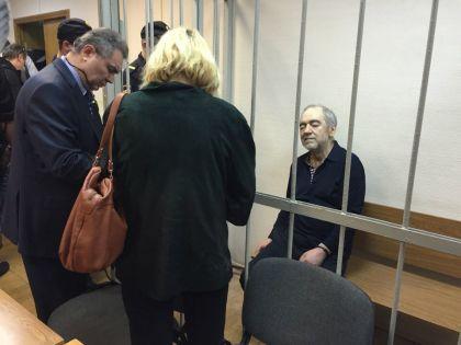 Левон Айрапетян в зале суда — уже под стражей после оглашения приговора