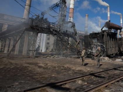 Разрушенный завод на Украине