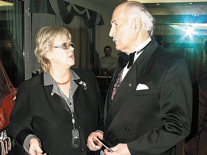Зельдин с женой Иветтой Капраловой