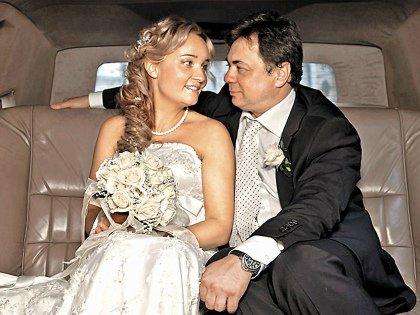Андрей Леонов с женой Настей