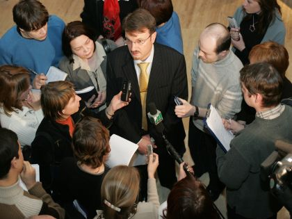 Герман Греф и журналисты