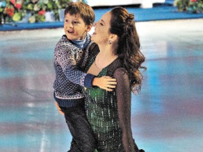 Ирина Слуцкая с сыном