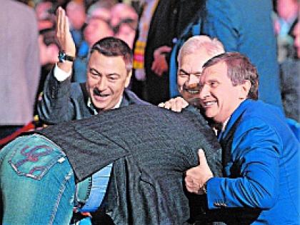 Игорь Сечин, Геннадий Тимченко и Владимир Евтушенков
