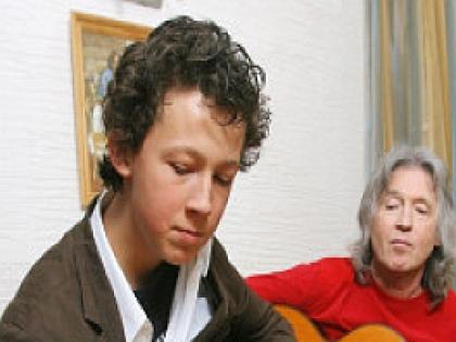Вячеслав Малежик с сыном