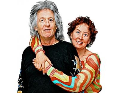 Вячеслав Малежик с женой