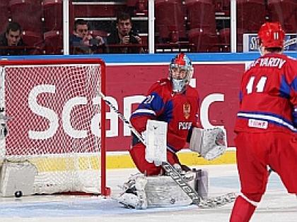 Молодежная сборная России по хоккею в полуфинале МЧМ-2014