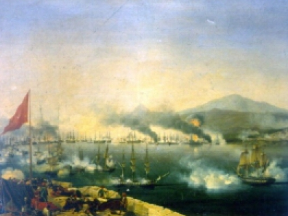 Наваринское сражение 1827 года. Амбруаз Луи Гарнерей