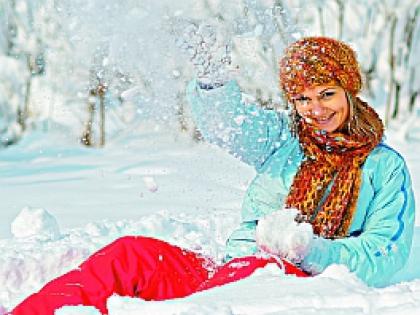 Женщина в снегу
