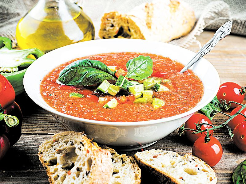 Рецепт: Холодный суп из горячей Испании