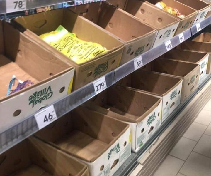 Пятерочка объяснила пустые полки жарой и высоким спросом на некоторые продукты