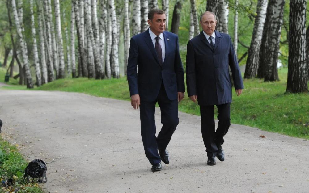 Алексей Дюмин и Владимир Путин