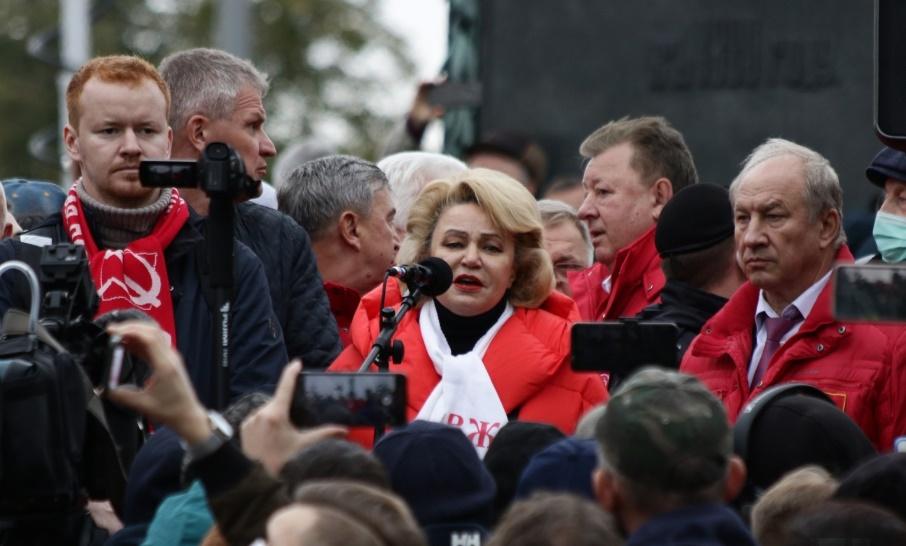 Останина и Рашкин у Пушкина на встрече с избирателями