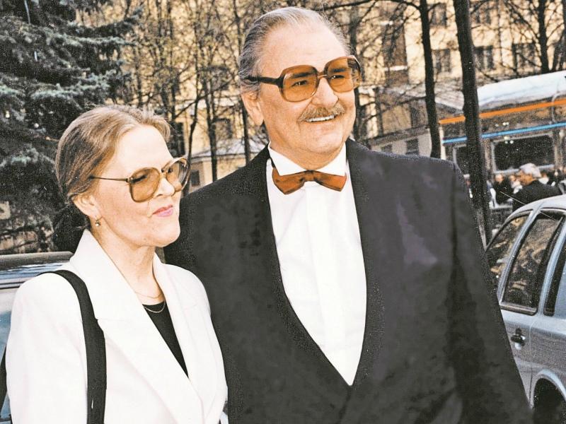 Юрий Яковлев с третьей женой – Ириной Сергеевой