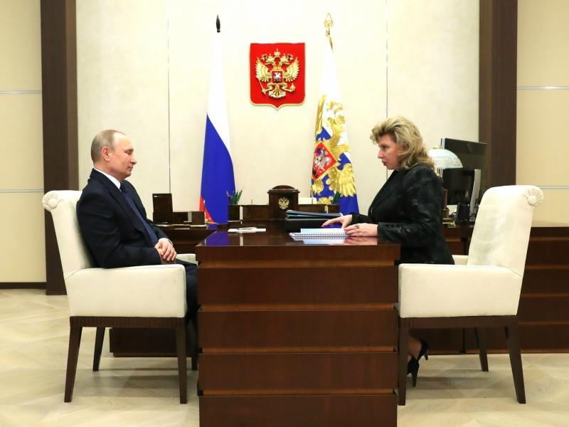 Владимир Путин и Татьяна Москалькова // Фото: Global Look Press