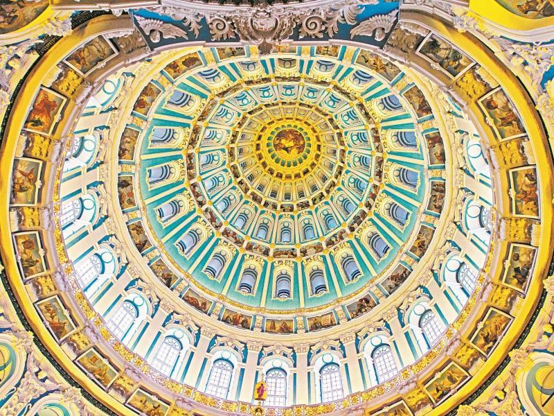Купол главного храма изнутри