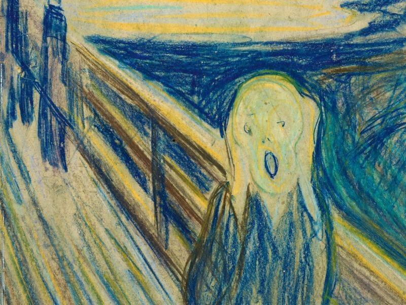 """фрагмент картины Эдварда Мунка """"Крик"""" // фото: Третьяковская галерея"""