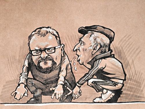 Карикатура на Милонова и Жириновского // рисунок: Камиль Бузыкаев
