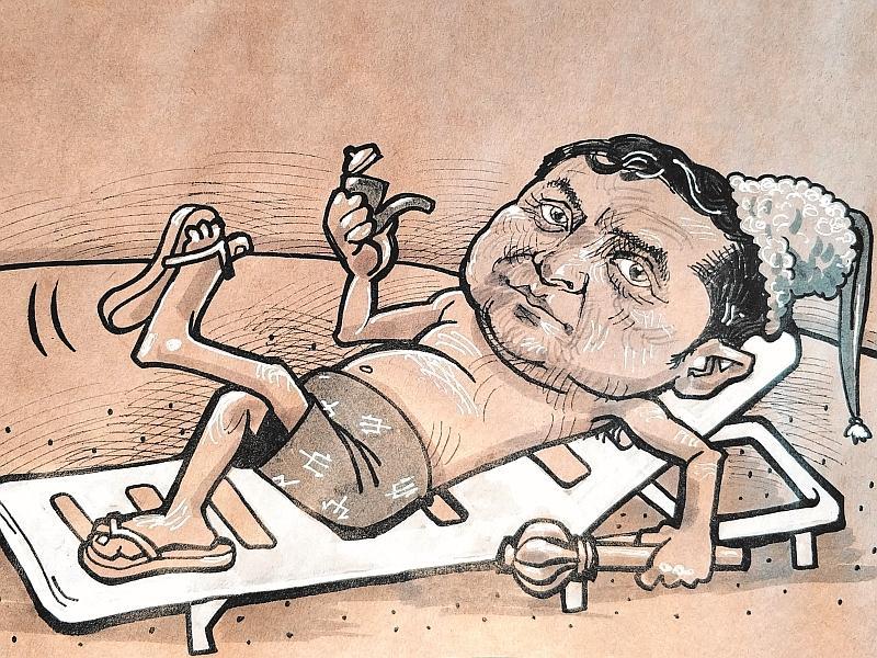 Карикатура на Владимира Зеленского // рисунок: Камиль Бузыкаев