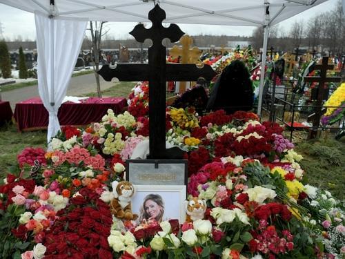 Юлию Началову похоронили на Троекуровском кладбище // фото: Евгений Биятов / РИА «Новости»