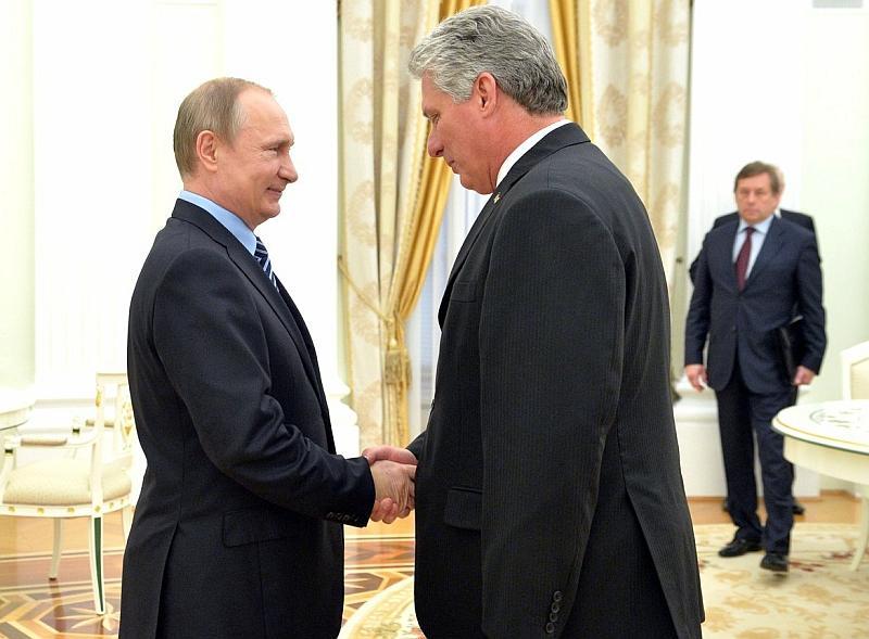Владимир Путин и Мигель Марио Диас-Канель Бермудес // фото: Global Look Press