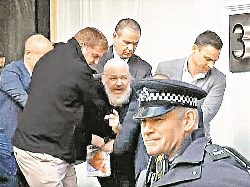 Джулиан Ассанж – один из немногих иностранцев, кого ждут в США // фото: Global Look Press