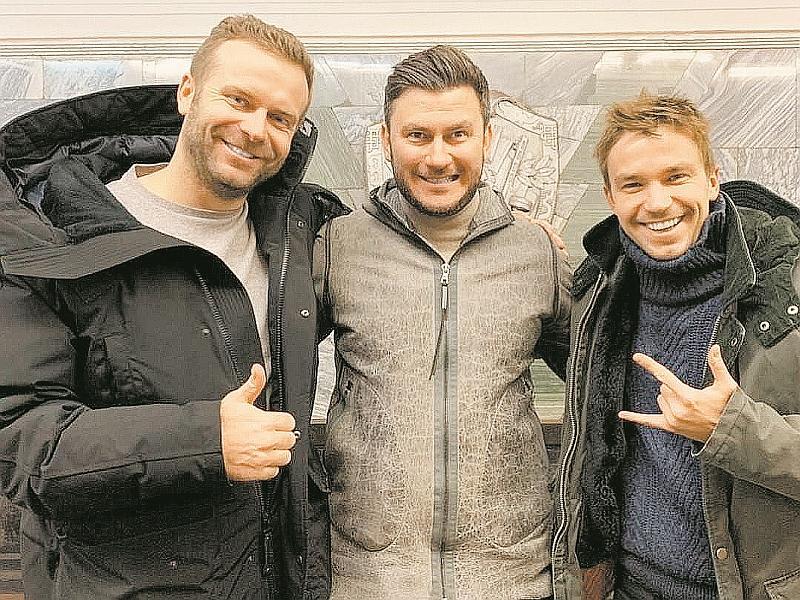 Шипенко, Глуховский и Петров (слева направо) сняли фильм всего за два месяца // фото: Global Look Press