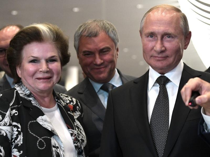 Валентина Терешкова, Вячеслав Володин, Владимир Путин // Фото: Global Look Press