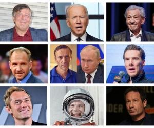 Гагарин, Байден, Путин, Навальный и актеры, поддержавшие Навального // Фото: Global Look Press