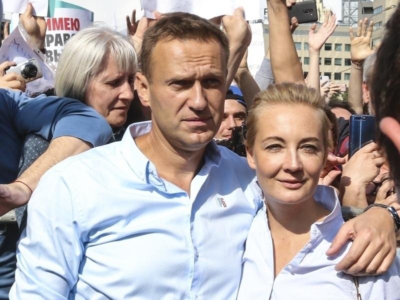 """Алексей и Юлия Навальные//фото: Андрей Струнин, """"Собеседник"""""""