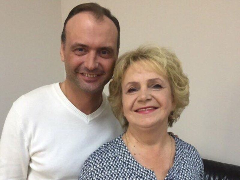 Марк Горонок с матерью//фото: личный архив М.Горонка