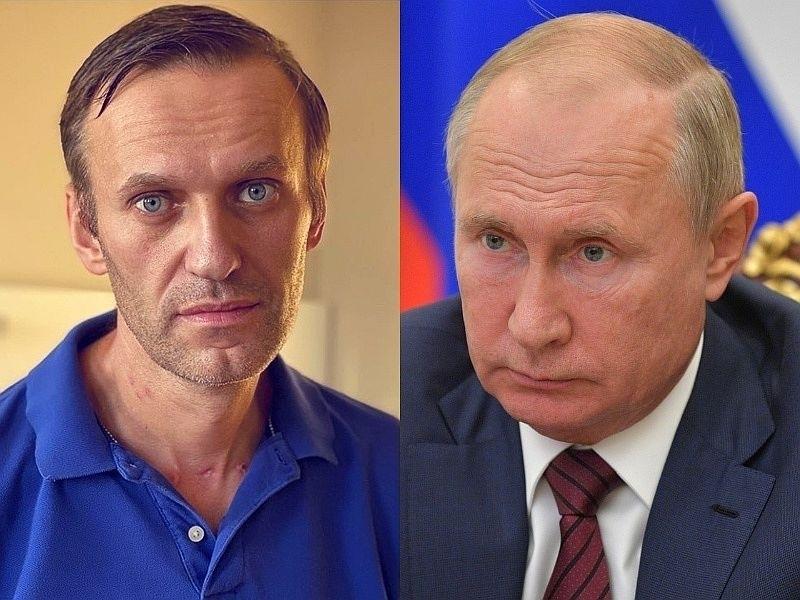 Алексей Навальный и Владимир Путин // Фото: Global Look Press, Instagram
