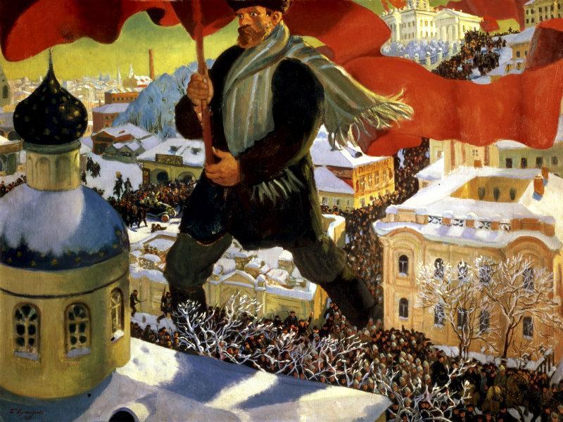 """Кустодиев Борис Михайлович. """"Большевик"""". Холст, масло. 1920 г. ГТГ. Москва. Россия // фото: Global Look Press"""