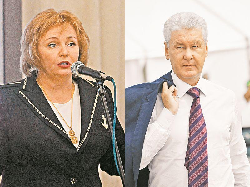 Слева: Людмила Очеретная (на тот момент еще Путина) в 2011 году; справа: мэр Москвы Сергей Собянин // фото: Global Look Press
