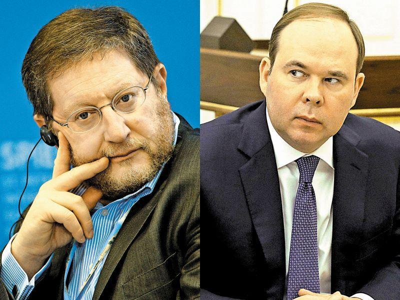 """Слева: Анатолий Карачинский // фото: РИА """"Новости""""; справа: Антон Вайно // фото: Kremlin Pool / Global Look Press"""