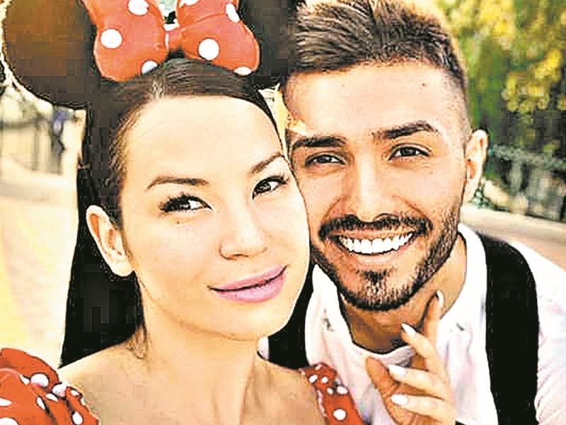 Ида Галич с мужем в медовый месяц // фото: соцсети