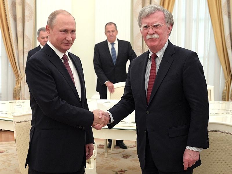 Путин и Болтон // фото: Global Look Press