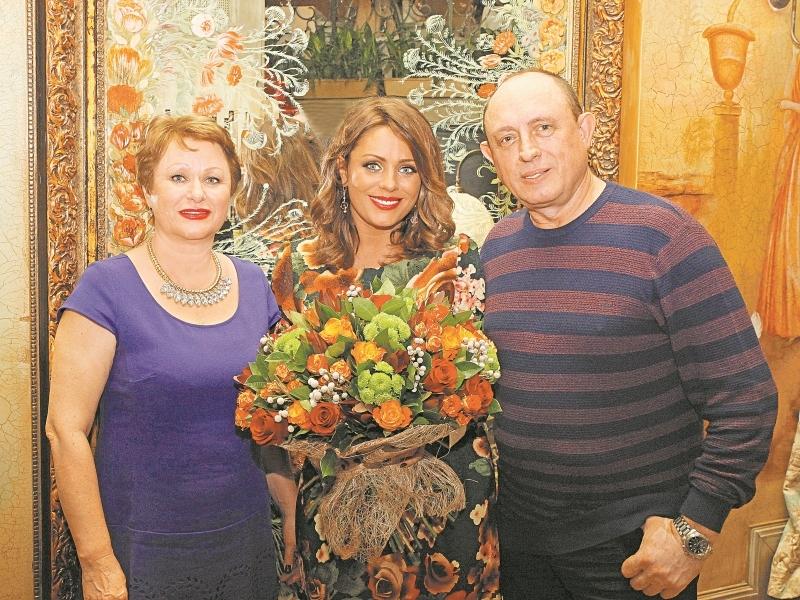 Юлия Началова с родителями // фото: архив редакции